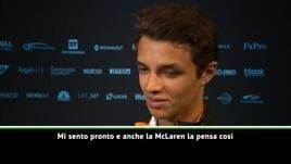 McLaren, Norris si presenta: