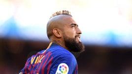 Vidal tiene in ansia il Barcellona: problema al ginocchio con il Cile