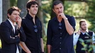 Kakà, Leonardo e Maldini: tris d'assi all'allenamento
