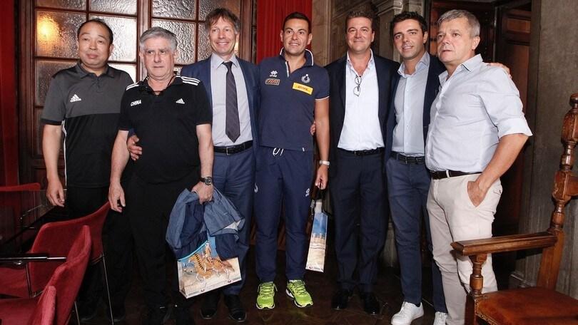 Volley: l'Italia di Blengini ricevuta dal Sindaco di Siena