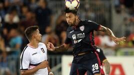 Cagliari-Olbia 1-0, decide la rete di Castro