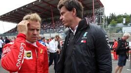 F1 Mercedes, Wolff: «Certe critiche a Vettel sono ingiuste»