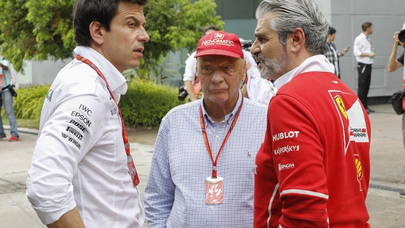 F1, Mercedes, Wolff: «Niki Lauda mi manca molto»