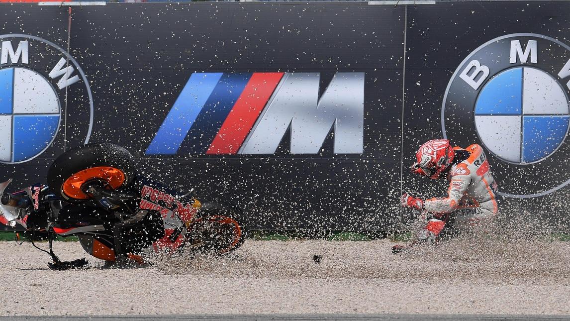 Il pilota spagnolo durante le qualifiche è finito nella ghiaia alla curva 15 a circa 6 minuti dal termine del Q2