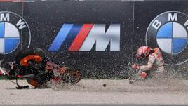 MotoGP Misano: la sequenza della caduta di Marquez&nbsp;<br />