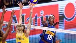 Volley: Torneo di Montreux: l'Italia è in finale, battuto il Brasile