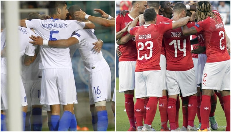 Manolas sorride, la Grecia batte l'Estonia 1-0. Dilaga la Svizzera: 6-0 all'Islanda