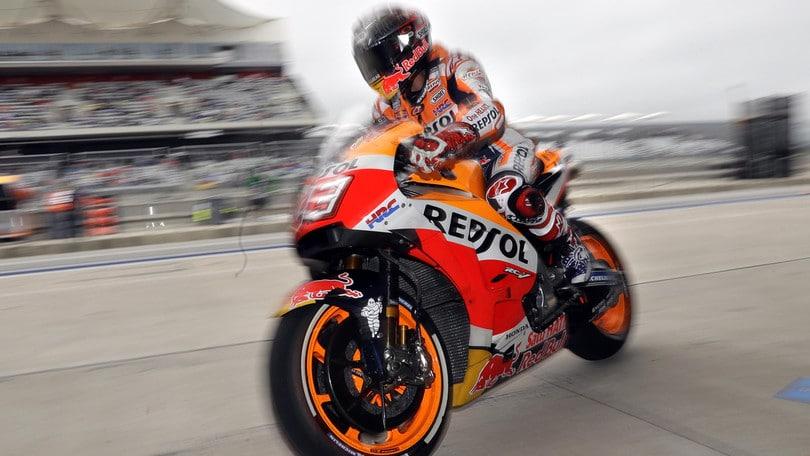 MotoGP Misano: Marquez è il più veloce nel warm up