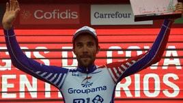 Vuelta: tappa a Pinot, Yates resta leader