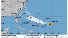 Uragano Florence si rafforza,categoria 3