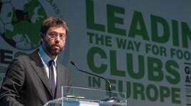 Eca, l'annuncio del presidente Agnelli: «Via libera a una terza competizione europea»