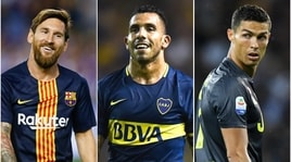 Tevez:«Ecco la differenza tra Messi e Ronaldo»