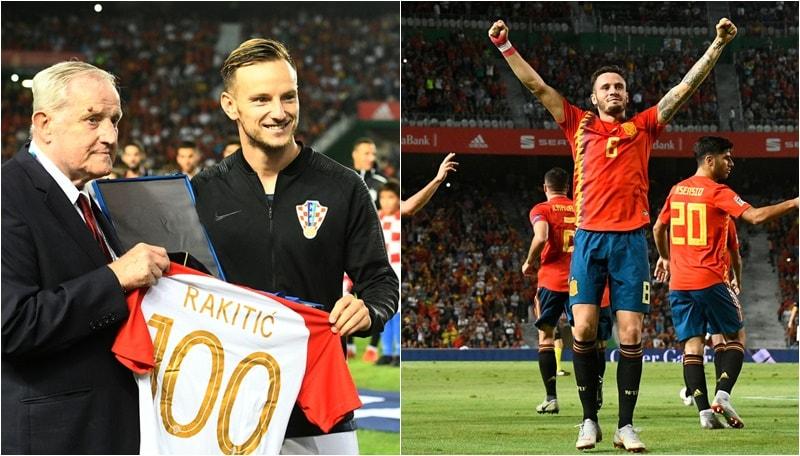 Le Furie Rosse vincono con risultato tennistico contro i vice-Campioni del Mondo. Il centrocampista del Barcellona festeggiava oggi le 100 presenze in Nazionale