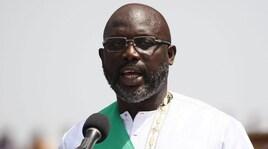 Liberia, Weah in campo a 51 anni