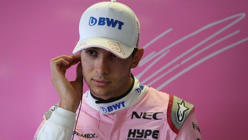 F1 Force India, Ocon: «Prometto che non mi arrenderò»