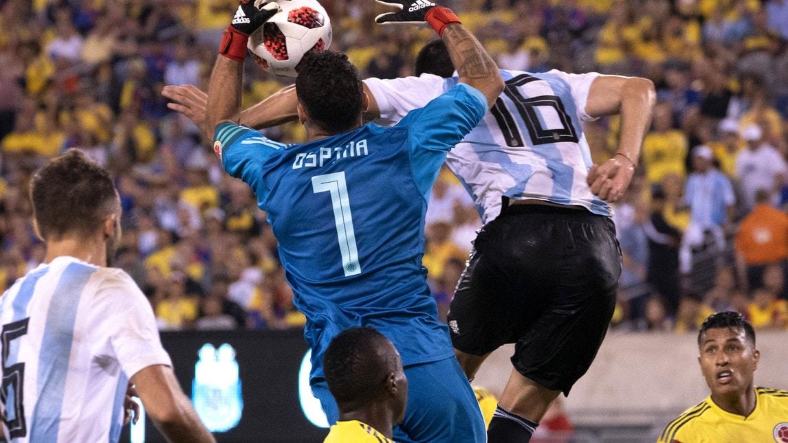 """Le foto dell'amichevole fra Argentina e Colombia giocata nella notte negli Usa con tanti """"italiani"""" in campo"""