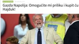 «De Laurentiis vuole comprare anche l'Hajduk Spalato»