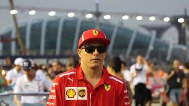 F1 Singapore, Ferrari, Raikkonen: «Mi sono dovuto accontentare»