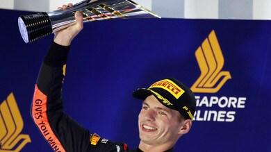 F1 Singapore, Verstappen: «Il 2° posto era il massimo»