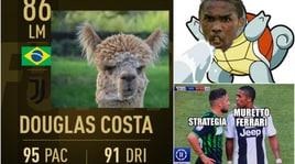 Ironia e disappunto: il web non perdonano a Douglas Costa lo sputo a Di Francesco