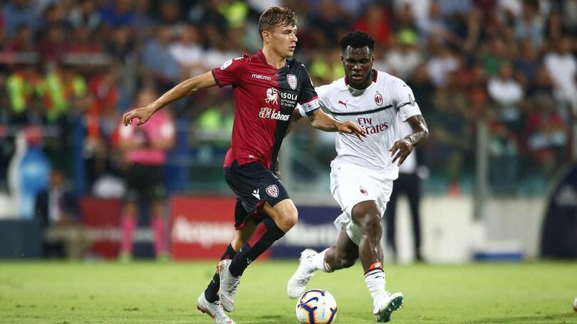 Serie A Cagliari-Milan 1-1, il tabellino