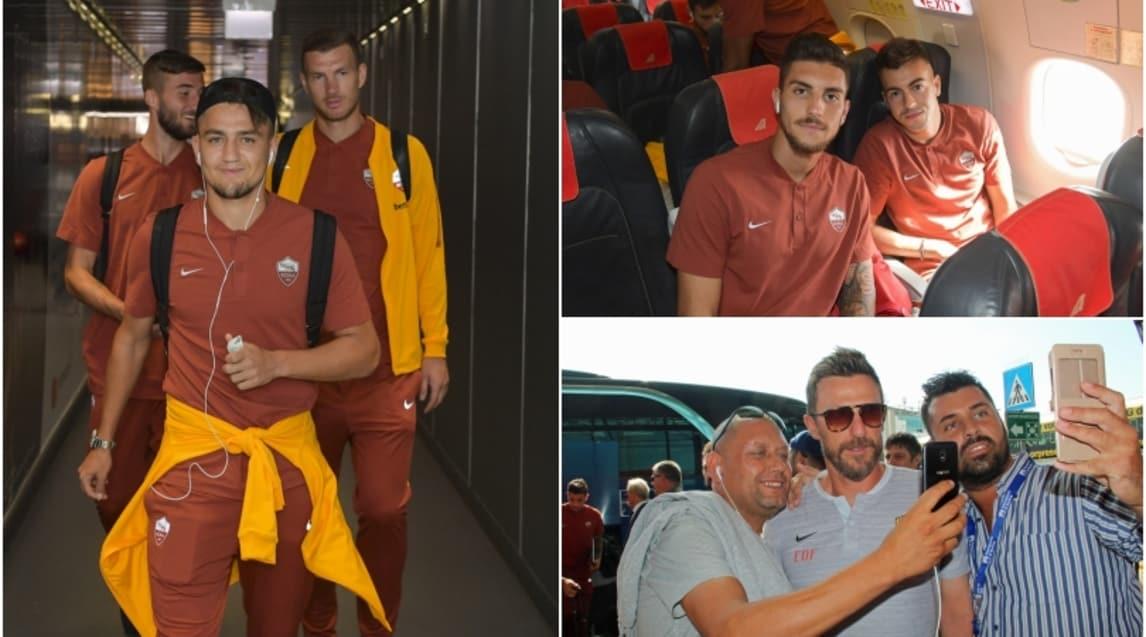 I giallorossi si imbarcano per la trasferta spagnola, primo appuntamento della nuova stagione di Champions