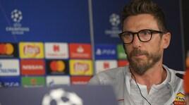 Real Madrid-Roma, Di Francesco:«Voglio una squadra arrabbiata. Caso Douglas? Mio figlio grande uomo»