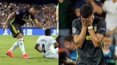Valencia-Juventus, colpo di scena al 29': espulso Ronaldo