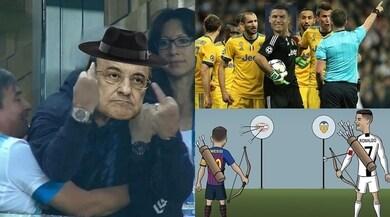 Valencia-Juventus, il rosso a Ronaldo scatena l'ironia dei social