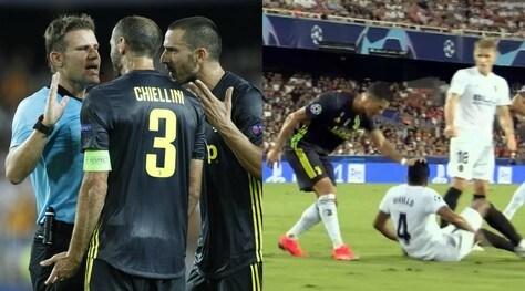 Valencia-Juve, la moviola:Fritz, l'addizionale sicuro: «E' rosso». Non lo è mai...