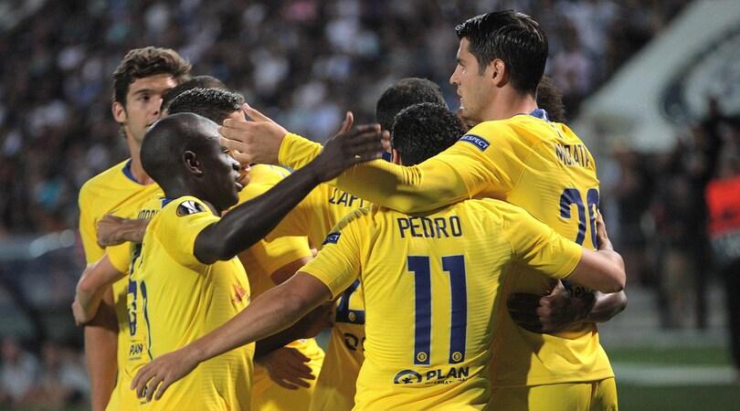 Europa League, sorride il Chelsea di Sarri. Cade il Marsiglia