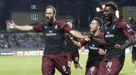 Europa League, Dudelange-Milan 0-1: ci pensa ancora Higuain
