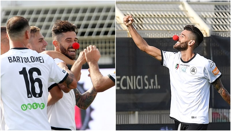 Spezia, Crimi regala il gol vittoria ed esulta alla 'Sbirulino'