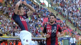Bologna-Roma, Mattiello esulta come Cristiano Ronaldo