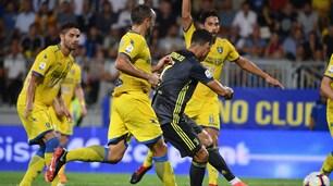 La Juve vince a Frosinone con Ronaldo e Bernardeschi
