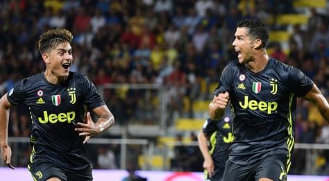 Frosinone-Juventus 0-2: decidono Ronaldo e Bernardeschi