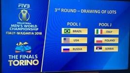 Volley: Mondiali 2018, l'Italia sorteggiata nella Pool J con Polonia e Serbia