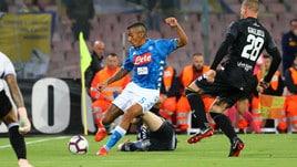 Serie A Napoli-Parma 3-0, il tabellino