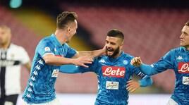 Serie A, Napoli-Parma 3-0: Insigne e doppio Milik, Juventus avvisata