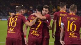 Roma-Frosinone 4-0: poker giallorosso all'Olimpico