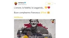 Roma, Totti compie 42 anni: una valanga di auguri sui social