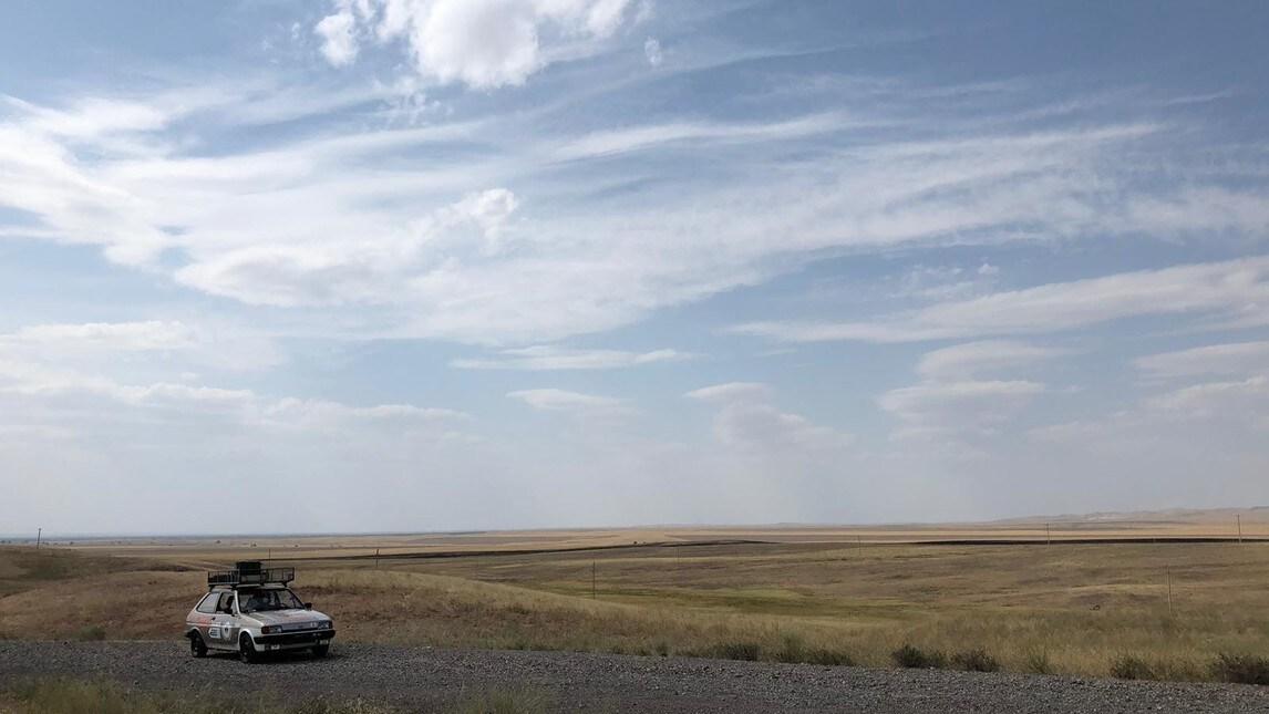 L'architetto fiorentino, a bordo della sua Ford Fiesta del 1984, ha completato il percorso del Mongol Rally. Ecco alcune foto della ultima parte del suo incredibile viaggio.