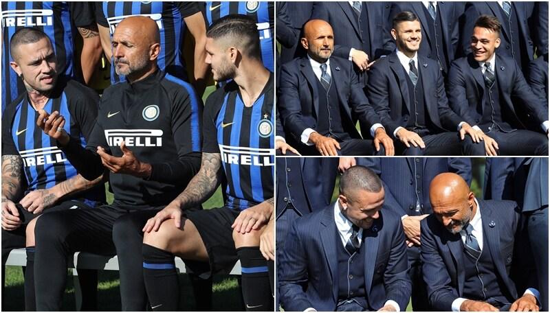 Inter, Spalletti-show durante la foto ufficiale del club