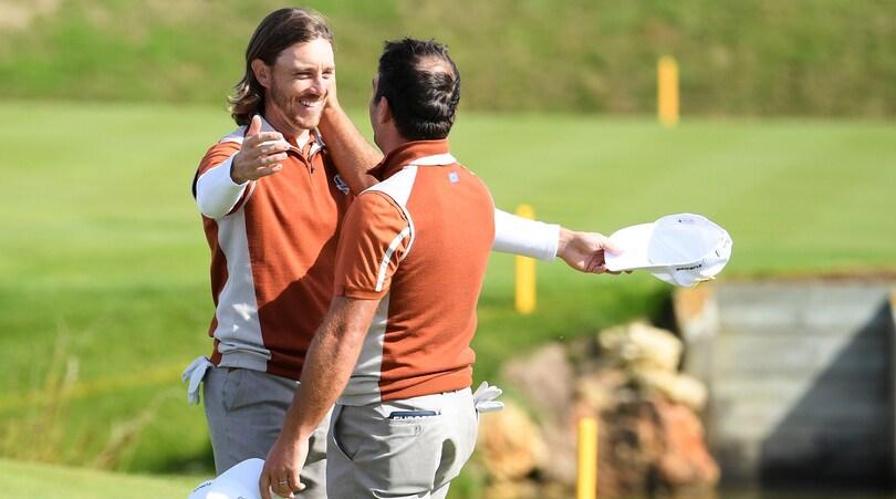 Golf, Ryder Cup: Molinari da record, tris su Woods. Europa prende il largo