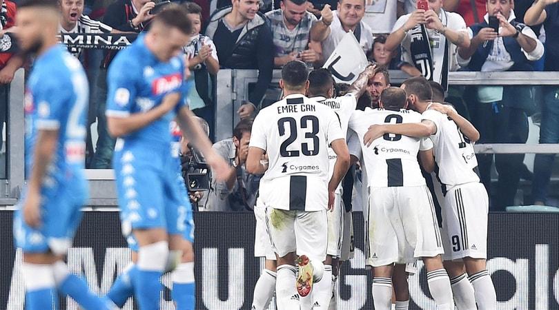 Juventus-Napoli 3-1: doppietta di Mandzukic e gol di Bonucci