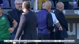 Fiorentina-Atalanta, tensione a fine partita fra Gasperini e Pioli
