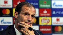Juventus, Allegri: «Mi spiace per Marotta. Ronaldo aveva bisogno di riposare»