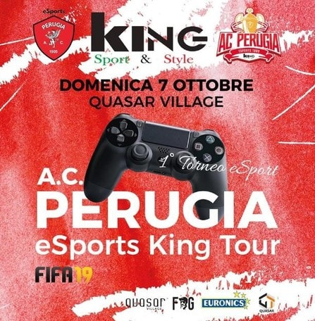 Tempo di FIFA19: a Perugia parte l'eSports King Tour