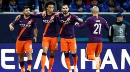 Il City fatica e solo in rimonta supera l'Hoffenheim grazie alle reti di Aguero e David Silva