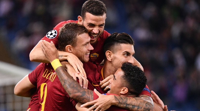 Roma-Viktoria Plzen 5-0: Dzeko si sblocca, tripletta